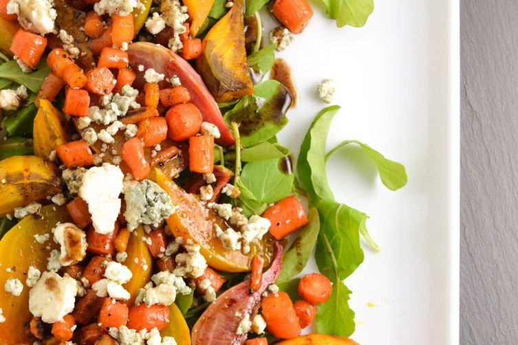 Roasted Beet, Carrot, And Blue Cheese Salad Recipe on Food52