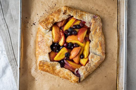 Sourdough Galette With Peaches & Blueberries