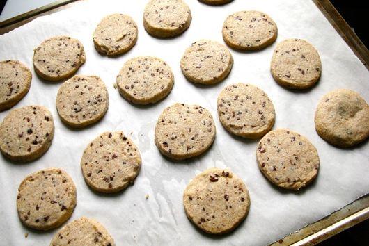 Pistachio Cranberry Sable Cookies