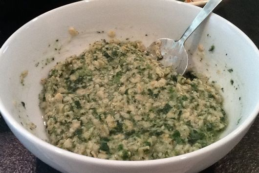 Cheesy Green Oatmeal
