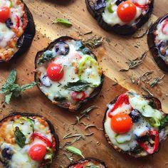 Mini Eggplant Pizzas