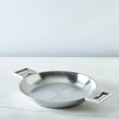"""Cristel Space-Saving Fry Pan, 10.2"""""""