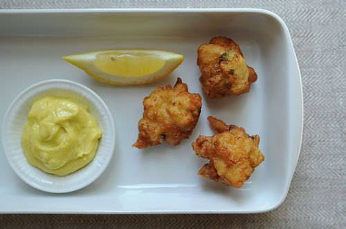 Crab Beignets with Aioli Dipping Sauce