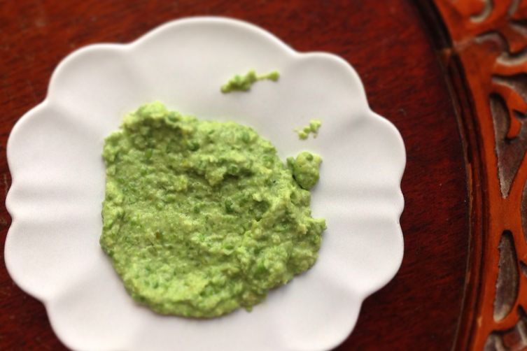 Browned Butter, Celery and Leek Pea Puree