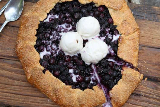 Black Raspberry and Blueberry Galette