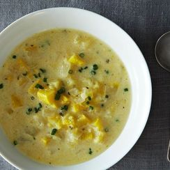 Summer Squash Soup + Brown Butter Tomatoes