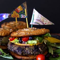 Blueberry Hemp Burgers