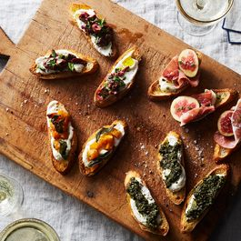 Up Your Crostini Game With Spicy Olives, Kale Pesto, and More
