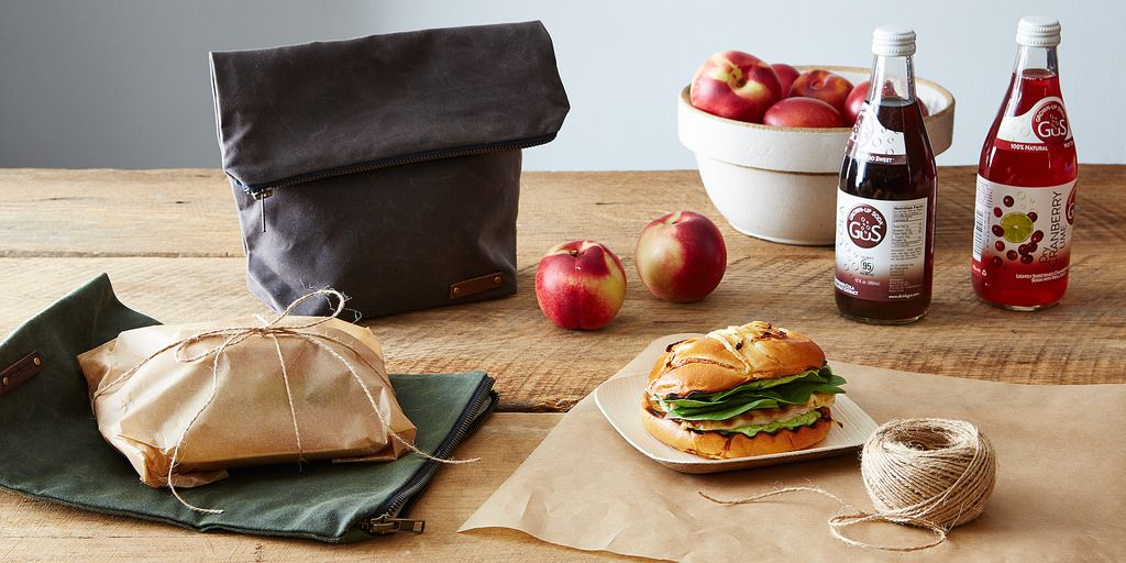 Waxed Canvas Lunch Totes