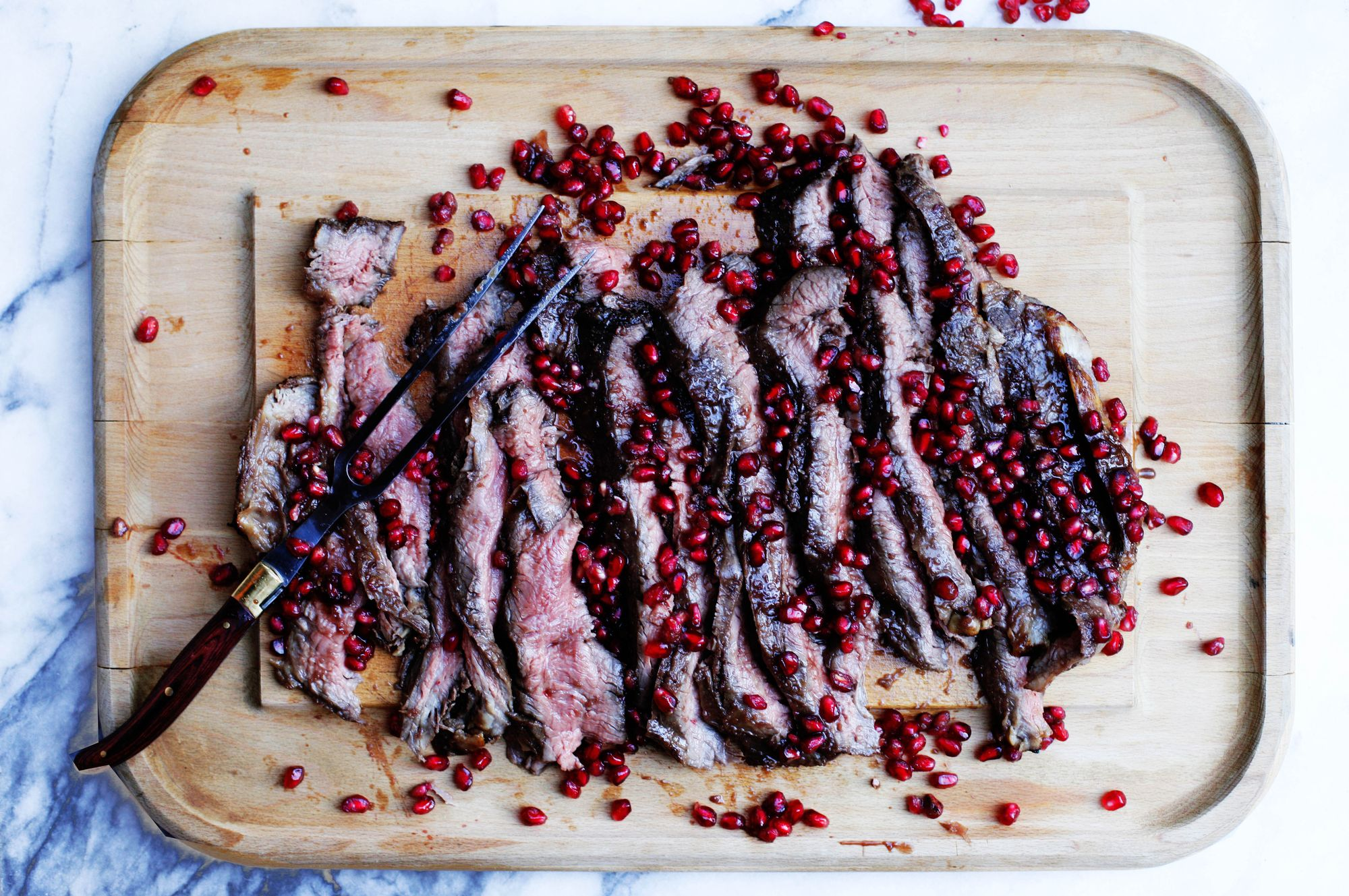 Pomegranate Flank Steak