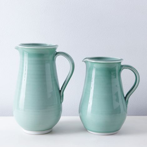 Summer Green Porcelain Pitcher