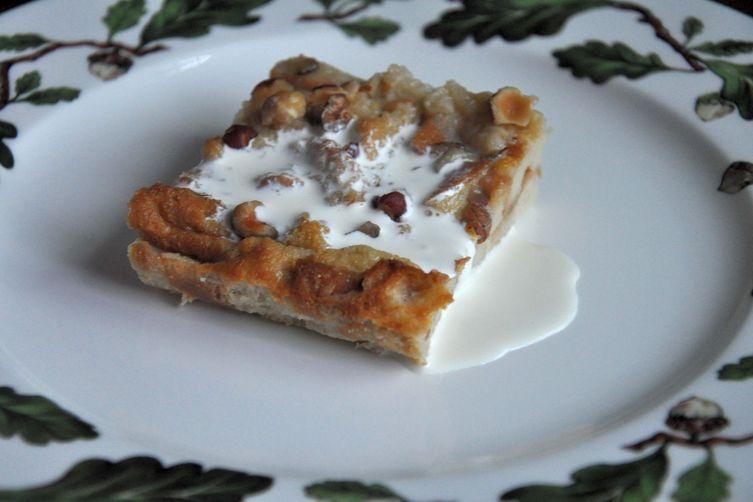 Luscious Hazelnut Bread Pudding