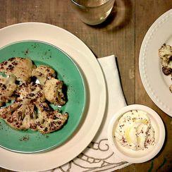 Roasted Cauliflower with Paprika and Greek Yoghurt Dip