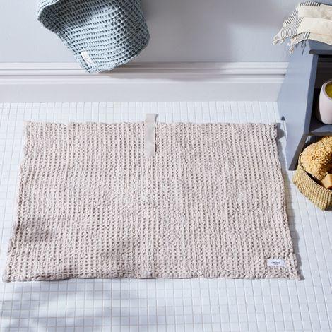Organic Cotton Waffle Bath Mat