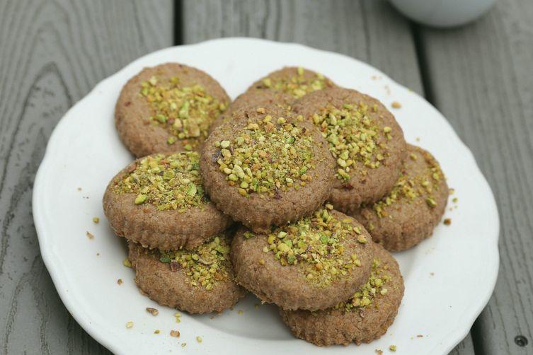 Vegan Spelt Ma'amoul with Pistachio Sugar