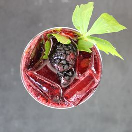 Blackberry and Lovage Cocktail