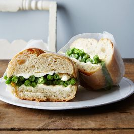 Marinated Green Bean Sandwiches