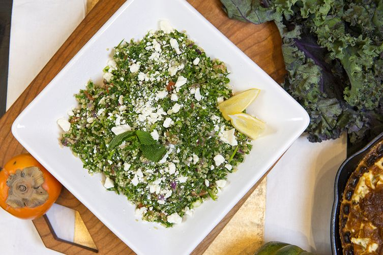 Quinoa Tabbouleh Salad with Lemon and Feta