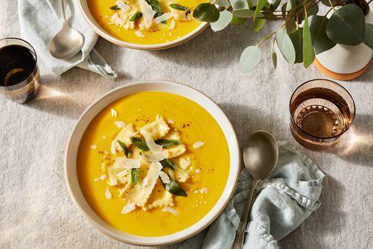 Roasted Winter Squash Soup With Sfoglia Lorda