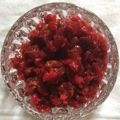 Sour Cherry and Cranberry Mostarda