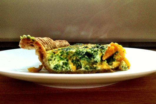 Savory Pumpkin and Spinach Tart