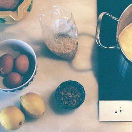 Rice soup with Egg, Thyme and Lemon sauce