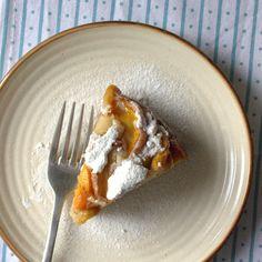 Peach yogurt cake