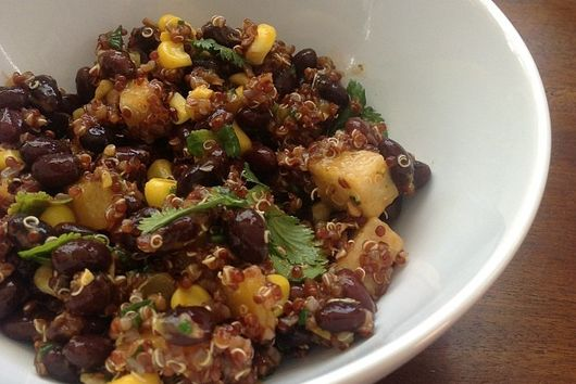 Mango and Quinoa Chopped Salad with Ancho-Mango Dressing