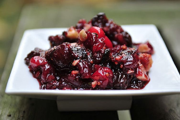 Gingered Cranberry Fig Chutney