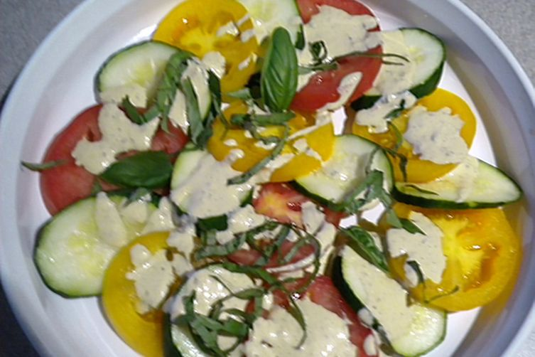 """Dressed"" Up Tomato and Zucchini Salad"