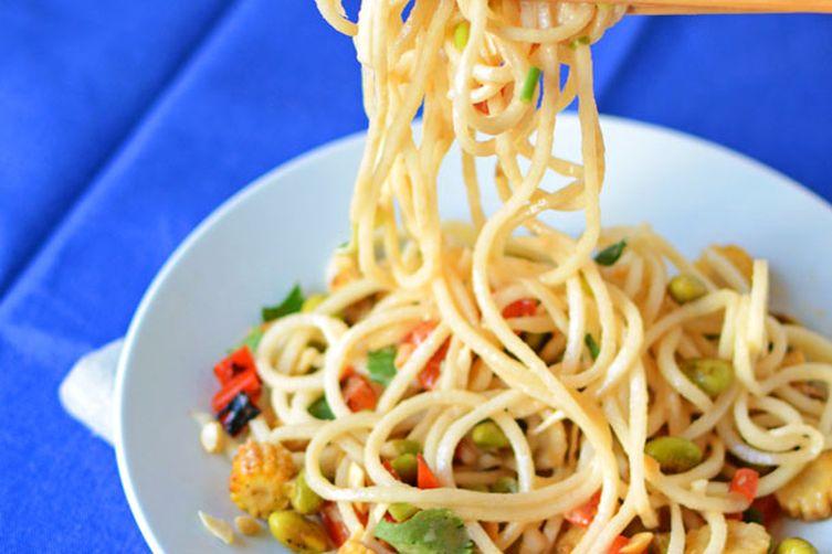 Peanut and Daikon Radish Noodle Salad Recipe on Food52