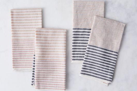 Handwoven Cotton Stripe Napkins (Set of 4)