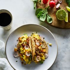 Potato, Chorizo, and Cheddar Breakfast Tacos