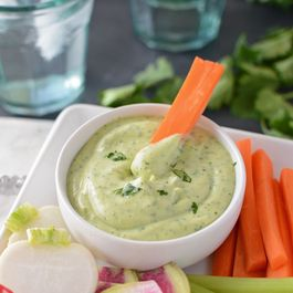 Avocado Lime Yogurt Dipping Dressing