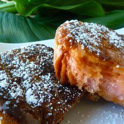 Hawaiian Island Sweet Bread French Toast with Coconut Syrup