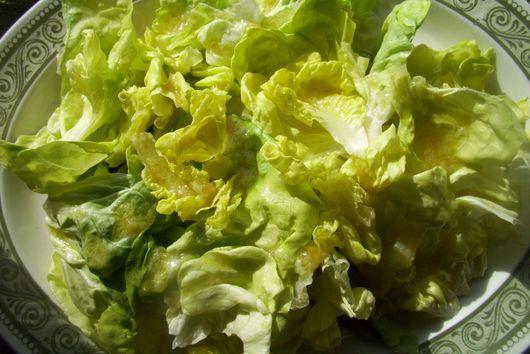 Salad with preserved lemon dressing