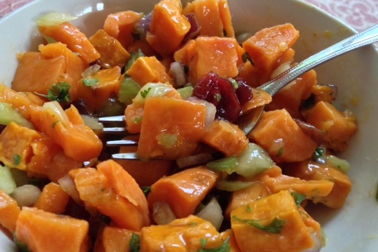 Sweet Potato, Cranberry and Pecan Salad