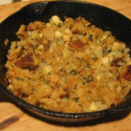Apple Bread Skillet Stuffing