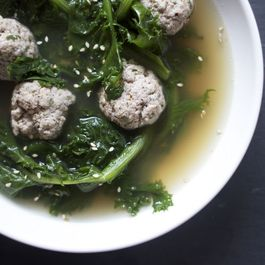 Za'atar Meatballs and Endive in Lemony Broth