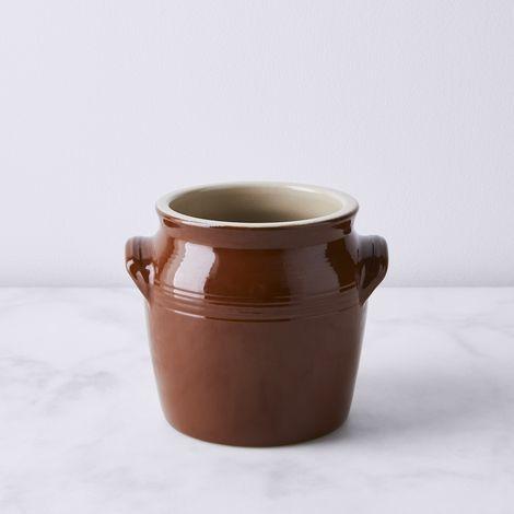 Vintage French Stoneware Barrel Crock