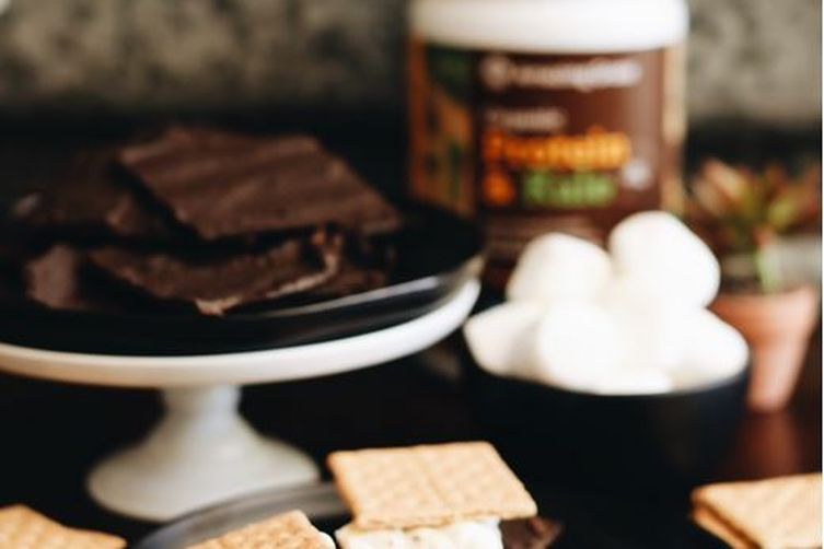 Superfood Chocolate Bark S'mores with Plant-Based Protein