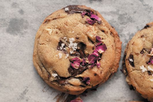 Rose Walnut Chocolate Chip Cookies