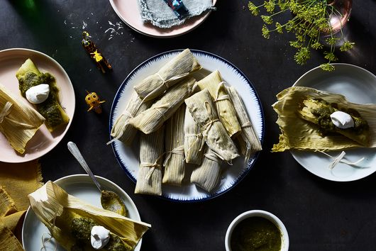 Chicken Tamales with Salsa Verde