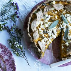 November's roast pumpkin tart with goat's cheese and sage