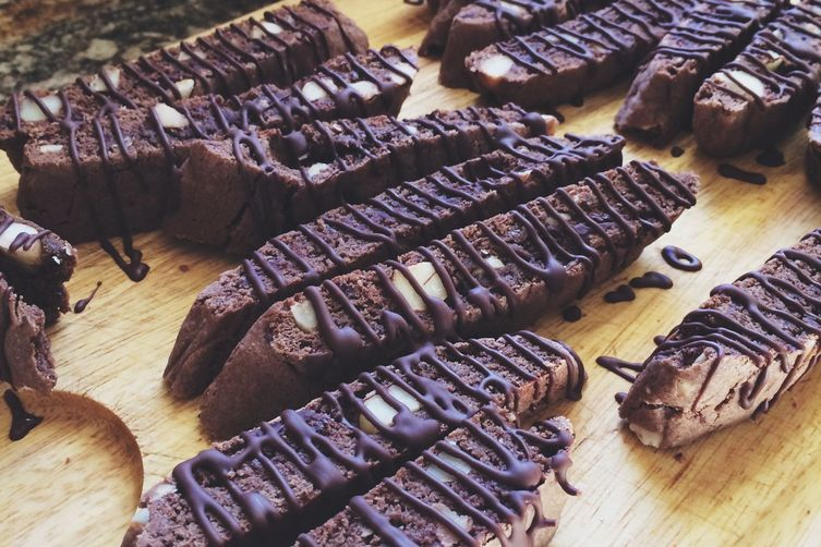 The best flipping Triple Chocolate Biscotti you'll ever have