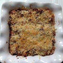 Artichoke Bread Pudding