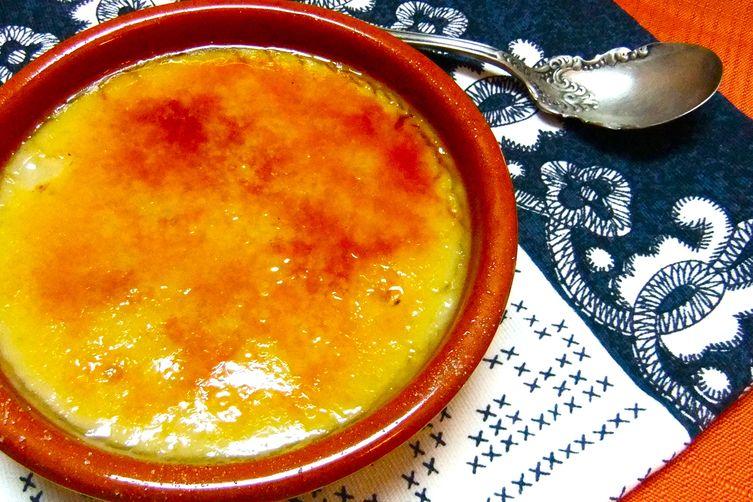 Lemon Scented Almond Milk Custard- Crema Catalana