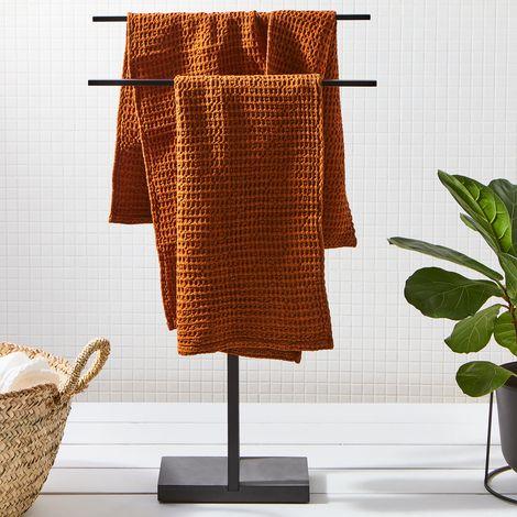 Modern Black Towel Rack