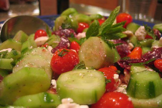Cucumber, Bulgarian Feta, Blood Orange & Mint Salad