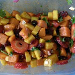 Summer sweet potato salad